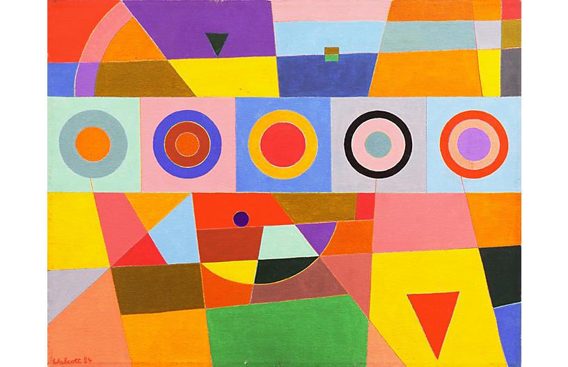 Vibrant Geometric Abstract, 1984