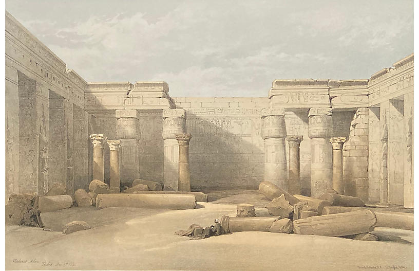 The Temple at Thebes by David Roberts
