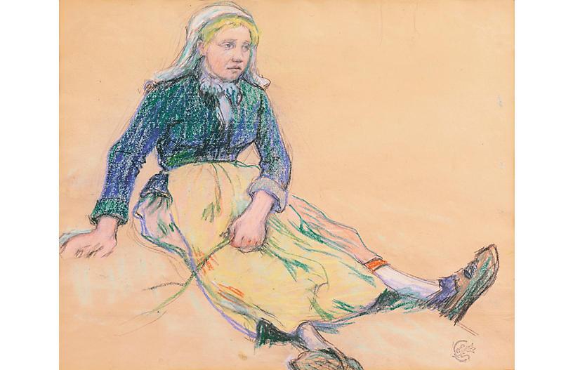 A Young Bretonne by Claude Schuffenecker