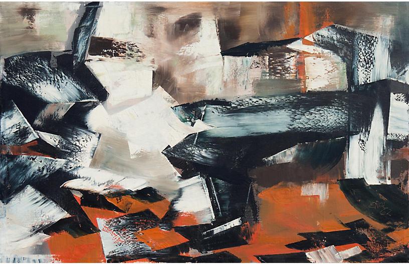 Abstract in Ebony & Rust, 1962