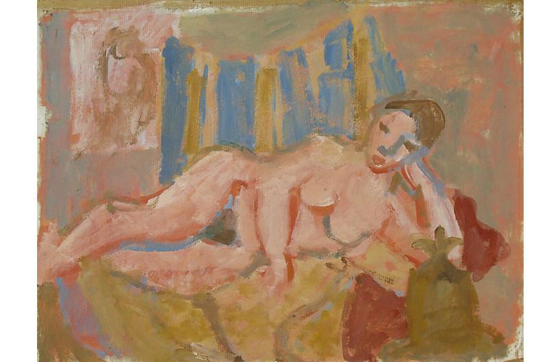 Reclining Nude by Victor Di Gesu, 1950s
