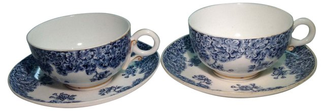 Royal Worcester Cups & Saucers, Pair