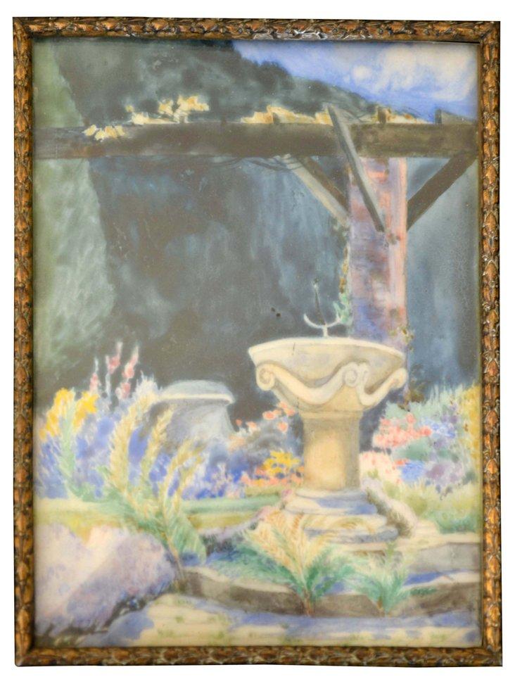 English Summer Garden by I. Gardner