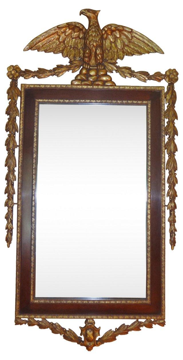 19th-C. George II Gilt Eagle Mirror