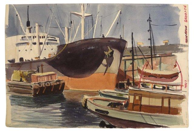 Brooklyn Dock, 1951