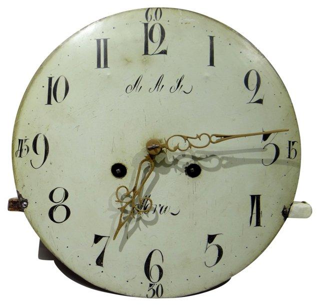 Swedish Mora Clock Face & Works