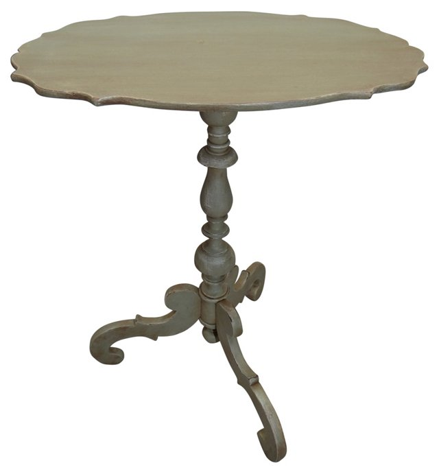 Swedish Pale Green Pedestal Table