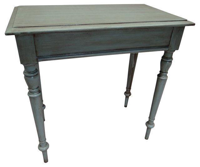 Teal Swedish Side Table