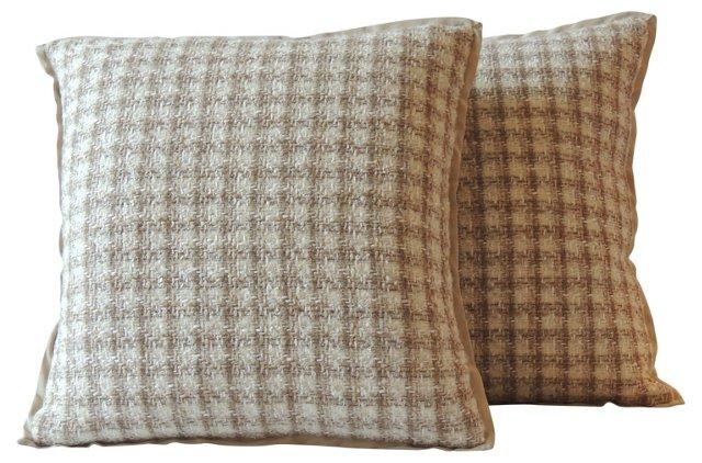Tweed Pillows, Pair