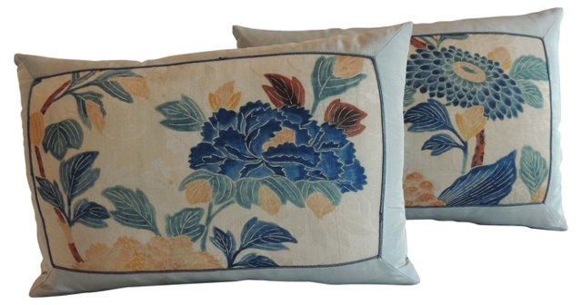 Obi Floral Lumbar Pillows, Pair