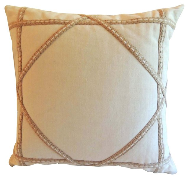 Trellis Linen Pillow