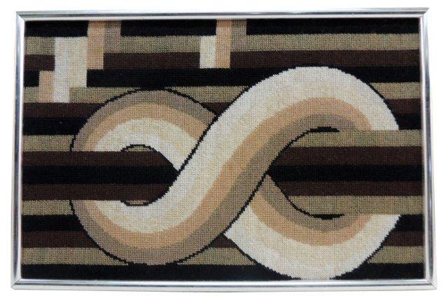 Framed Art Deco Tapestry