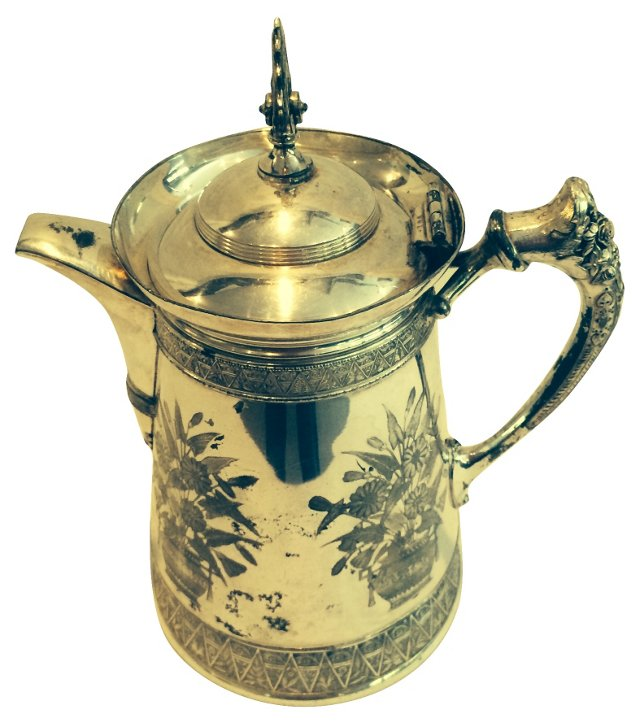 Antique Silverplated Pitcher