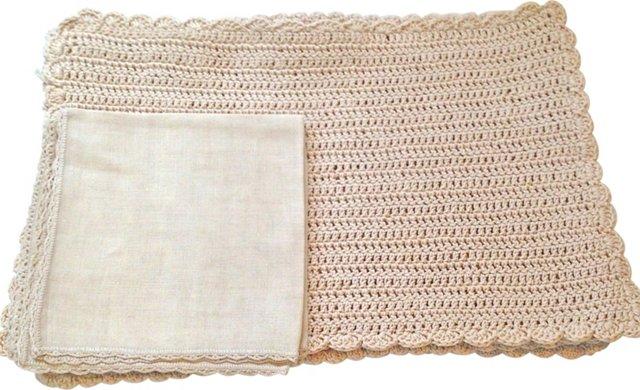 Hand-Crocheted Place Mats, S/8