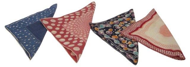 Polka Dot   Handkerchiefs, S/4