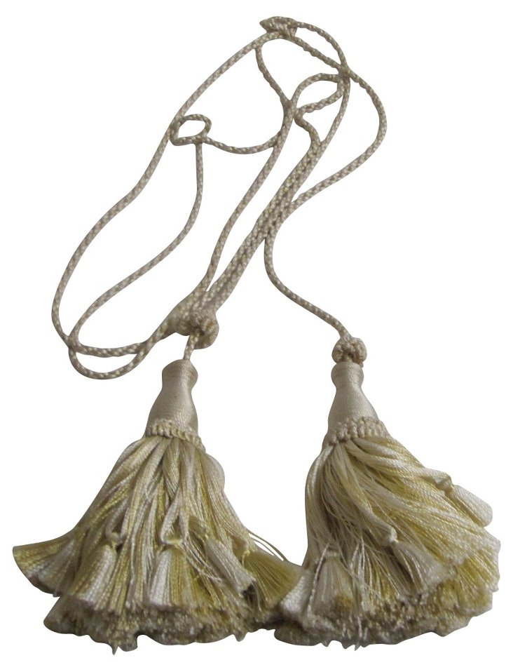 Italian Gold Silk  Tassel Tieback