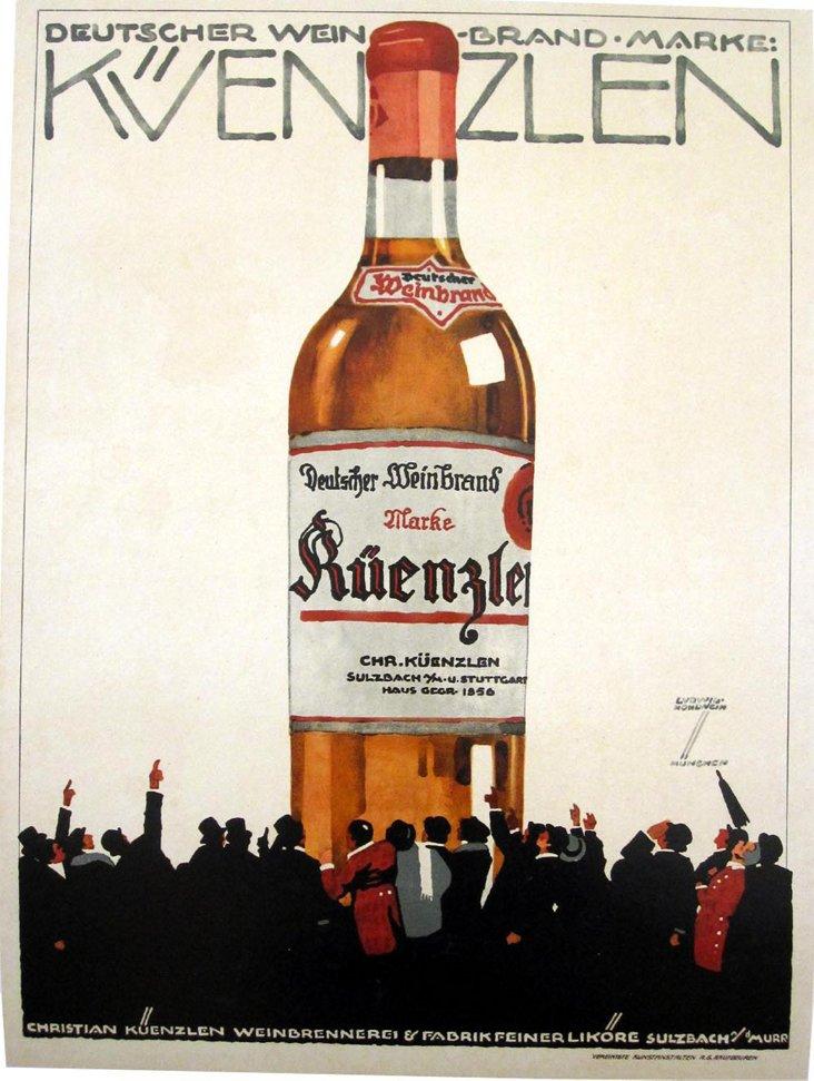 German Wine Poster