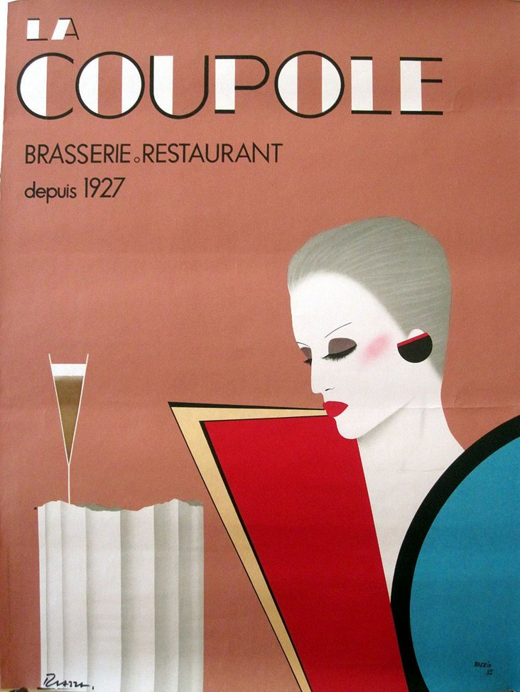 French La Coupole Brasserie Poster