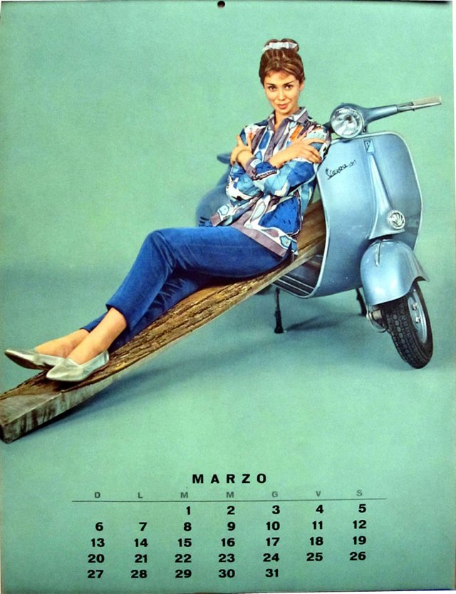 1960s  Vespa Pin-Up March and October