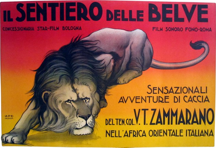Italian Safari Film Poster
