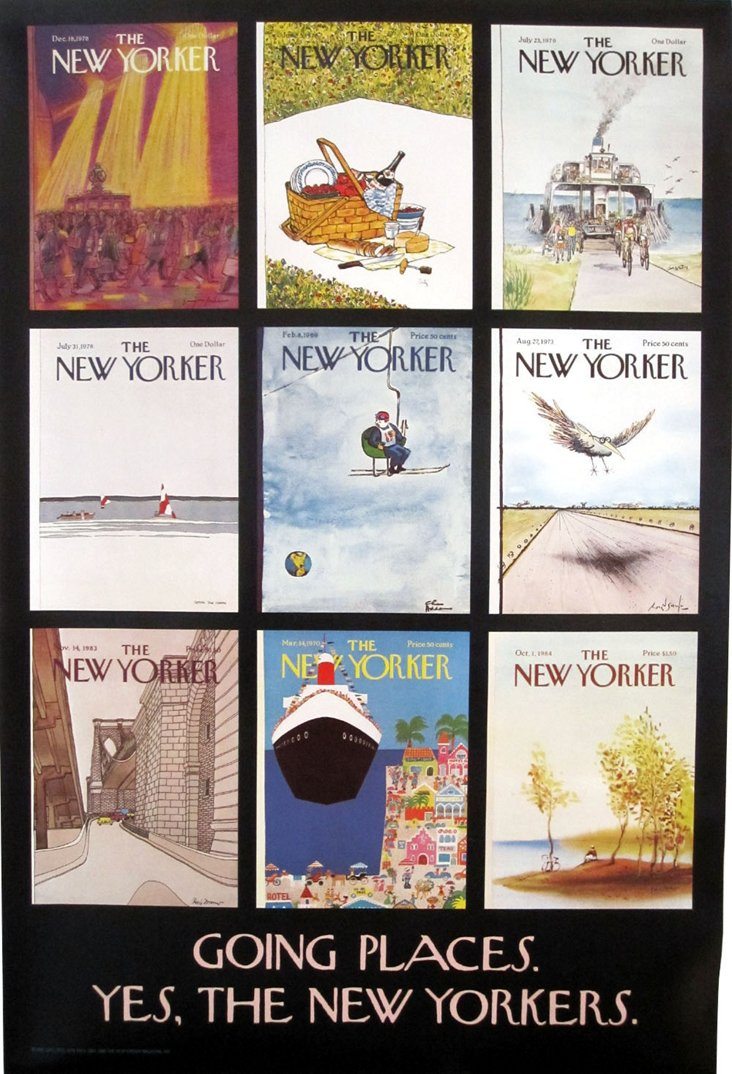 New Yorker Magazine Covers Poster