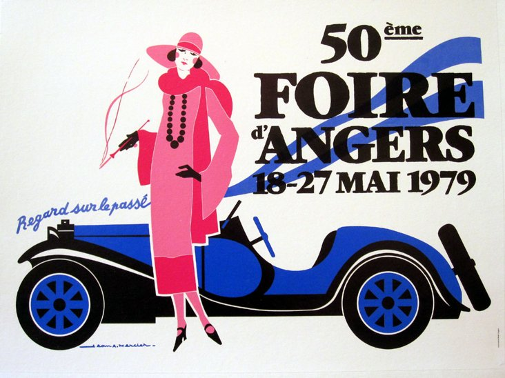 French Automobile Show Poster