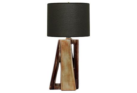 Midcentury Sculptural Ceramic Lamp