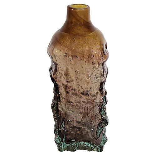 Mdina Textured Art Glass Vase