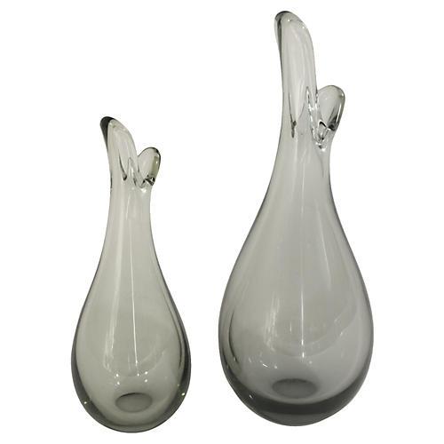 Holmegaard Beak Vases by Per Lutken