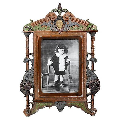 Antique Art Nouveau Photo Frame
