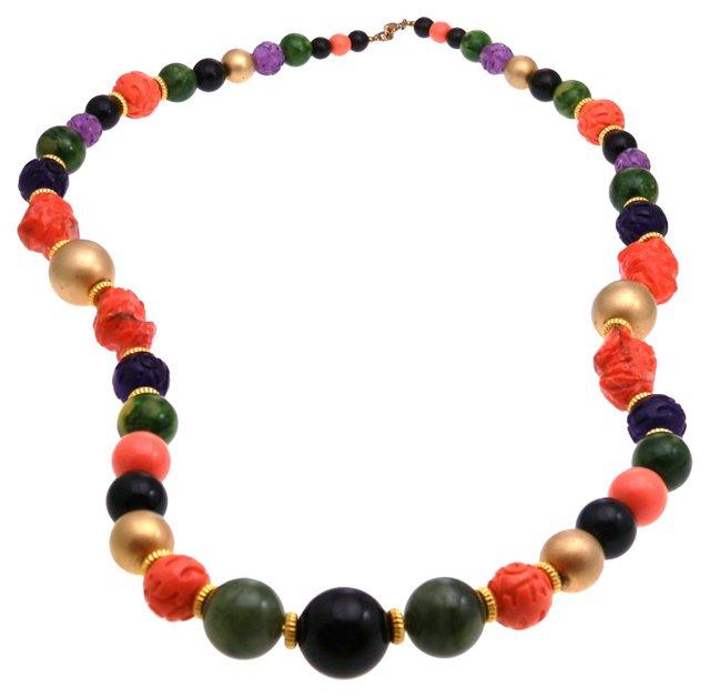 1960s Cadoro Multicolor Beaded Necklace