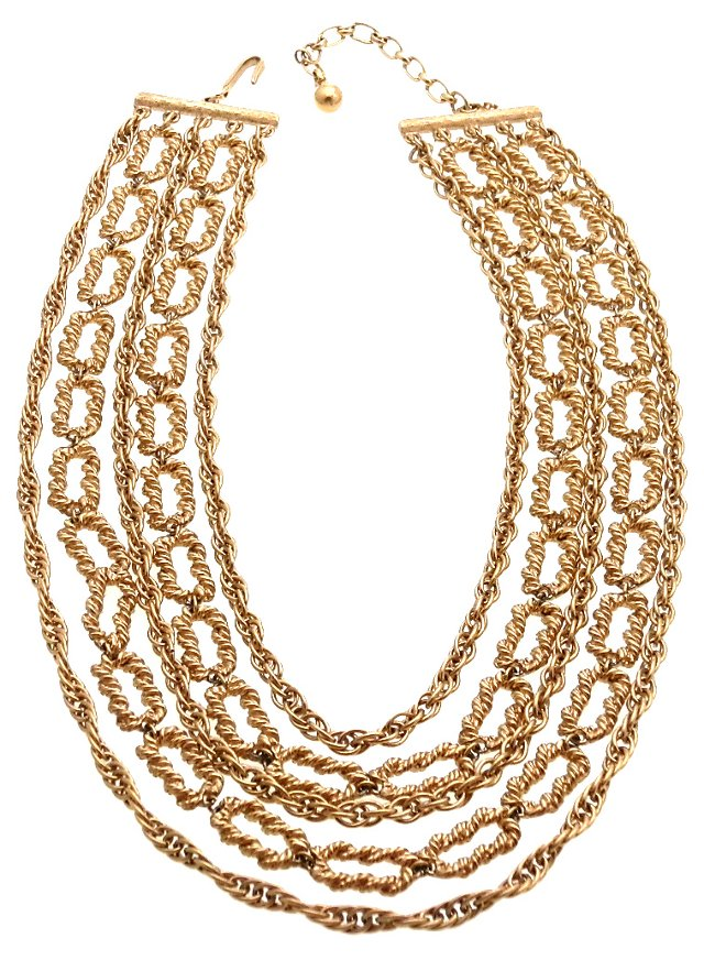 1950s Trifari Multi-Chain Necklace