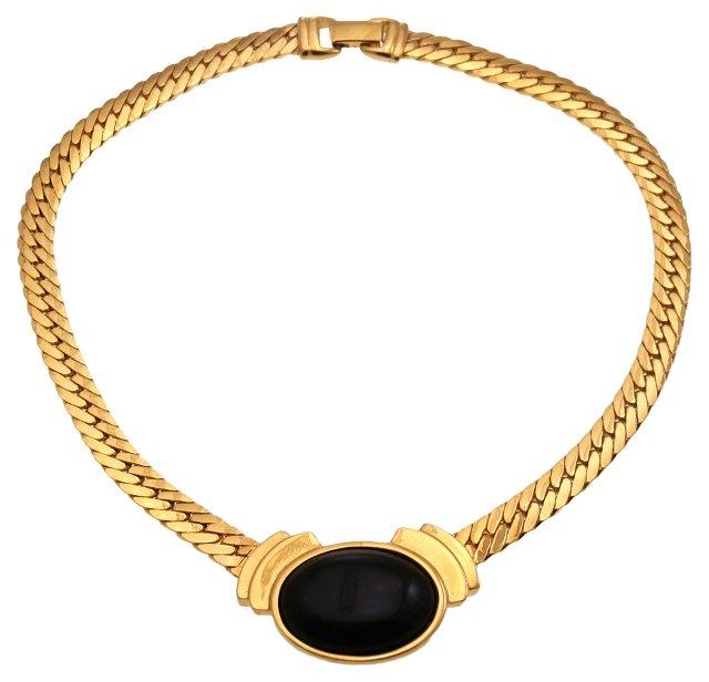 Napier Faux-Onyx Collar