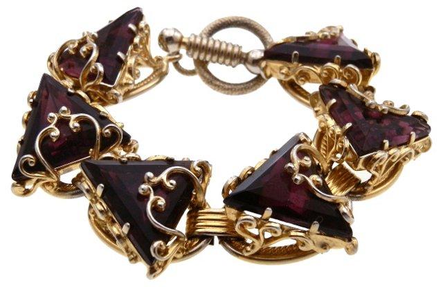 Triangle Faux-Amethyst Bracelet