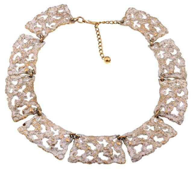 1970s Napier Molten Enameled Necklace