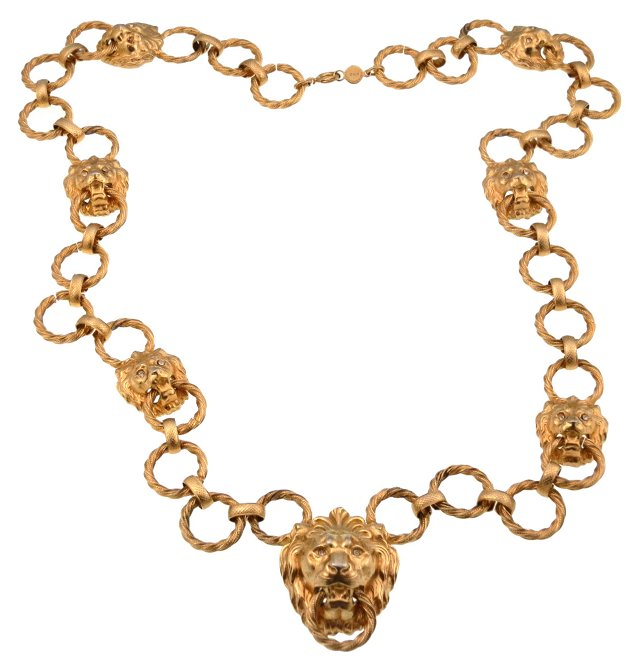 Accessocraft NYC Lion Necklace