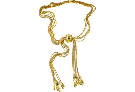 Monet Multi-Chain Lariat Slider Necklace