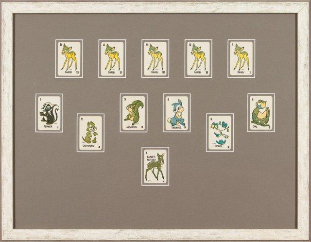 Framed Bambi Game Cards, 1946