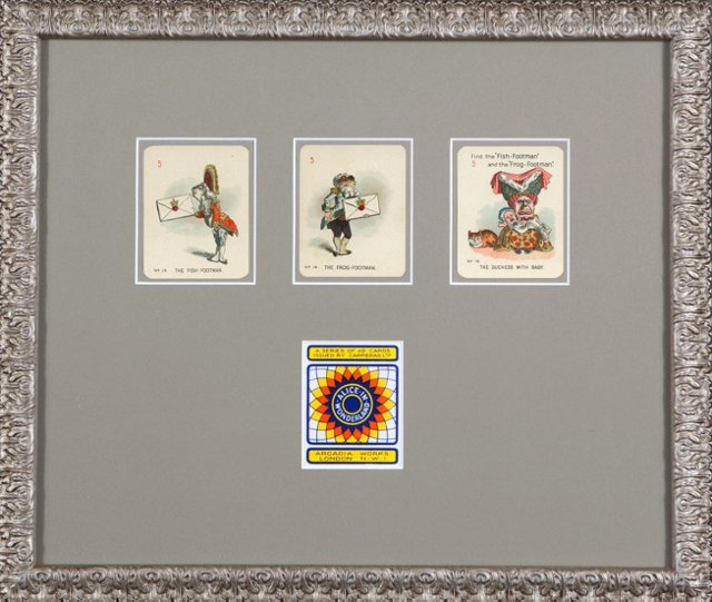 Framed Alice  in Wonderland Game   Cards