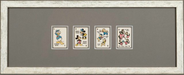 Framed Donald Duck Playing Cards