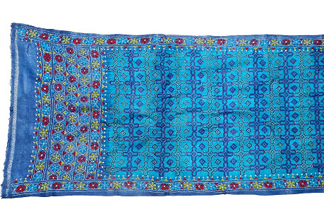 Indian Blue Silk Wall Hanging