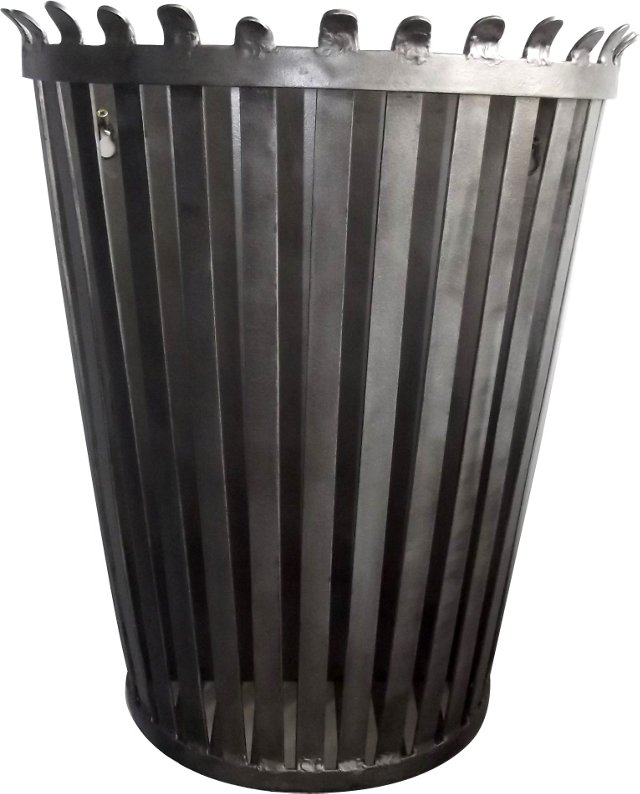 Polished Steel Hanging Waste Can