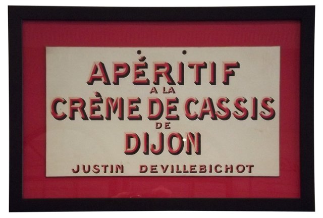 Framed Crème de Cassis Advertisement