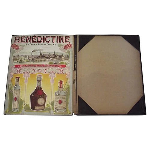 Bénédictine Advertising Menu