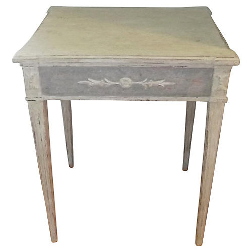 Decorated Swedish Side Table