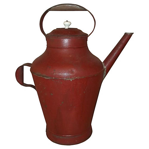 Red Lyonnaise Water Jug