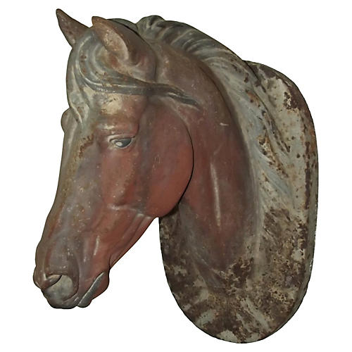 Cast Iron Horse Trade Sign