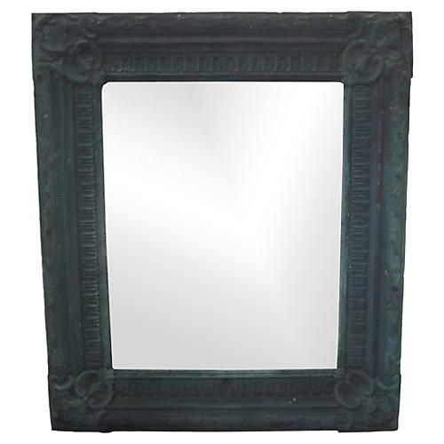 Copper Repoussé Mirror