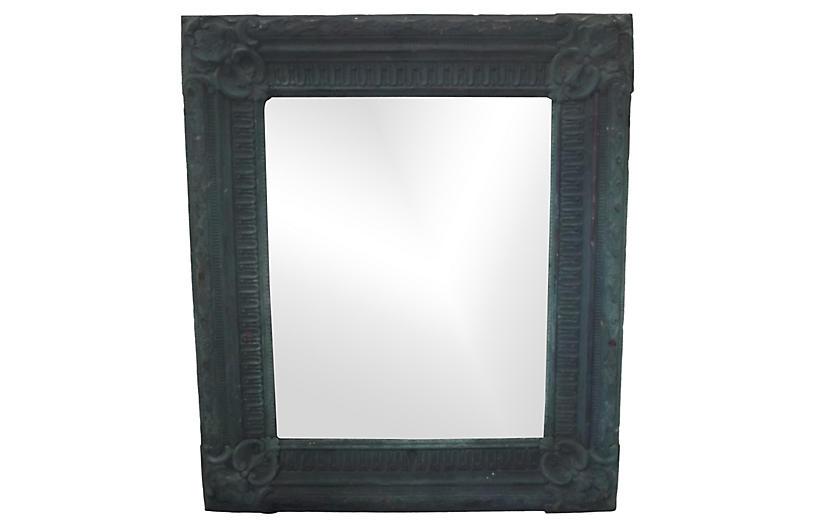 Copper Repoussé Mirror