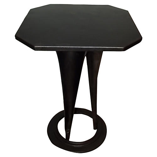 Tolix Polished Steel Bistro Table